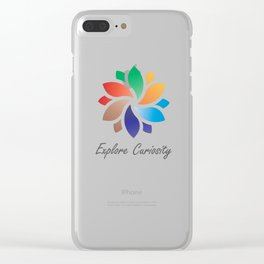 Explore Curiosity Mandala Clear iPhone Case