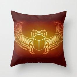 Egyptian Scarab Brown Gold 2020 Throw Pillow