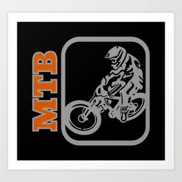 Downhill Mountain Bike Art Print