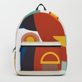 mid century geometric abstract shapes Backpack