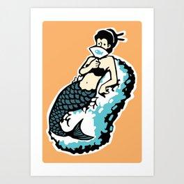 MERMAID SUSHI Art Print