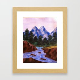 The Unscaled Tips Framed Art Print