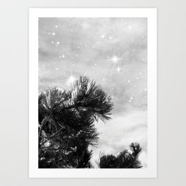 Magical Winter Night Art Print