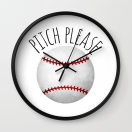 Pitch Please Wall Clock