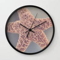 starfish Wall Clocks featuring Starfish by Jessica Torres Photography