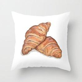 Breakfast & Brunch: Croissants Throw Pillow