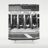 broadway Shower Curtains featuring Broadway by Jon Cain