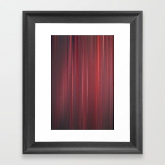red strings Framed Art Print