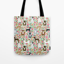 Pitbull florals mixed coats pibble gifts dog breed must have pitbulls florals Tote Bag