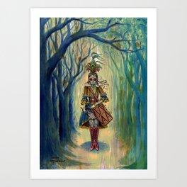 Dia de los Muertos Victorian Drummer Girl Art Print