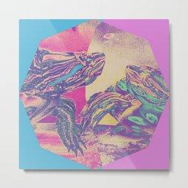 Two Turtles Metal Print