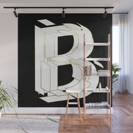 Beautiful Armor Letter B Wall Mural