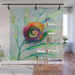 Snail Oilpainting Wall Mural