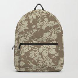 Hibiscus Pareau Hawaiian Floral Aloha Shirt Print Backpack