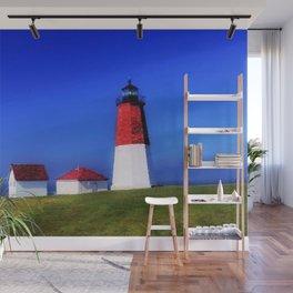 Point Judith Lighthouse, Narragansett, Rhode Island landscape nautical painting Wall Mural