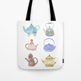 Waterclor Teapot Collection Tote Bag