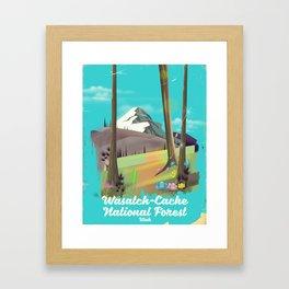 Wasatch-Cache National Forest Utah Framed Art Print