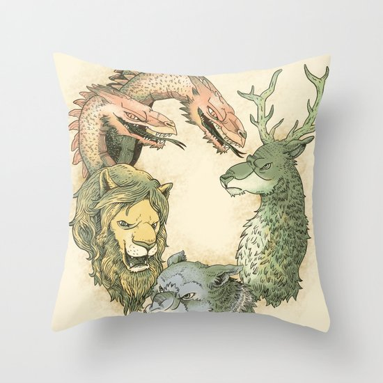 fight for the throne Throw Pillow