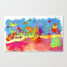 Under the sea, over the top Canvas Print