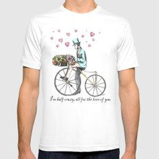 Spring time bicycle romance Mens Fitted Tee MEDIUM White
