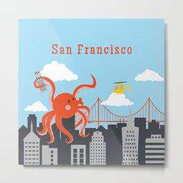 Giant Octopus in San Francisco Metal Print