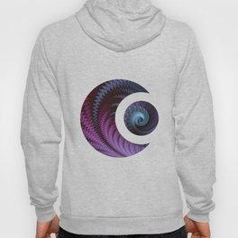 Fantastic Fractal Fantasies Purple And Teal Hoody