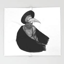 Plague Doctor by Studinano Throw Blanket