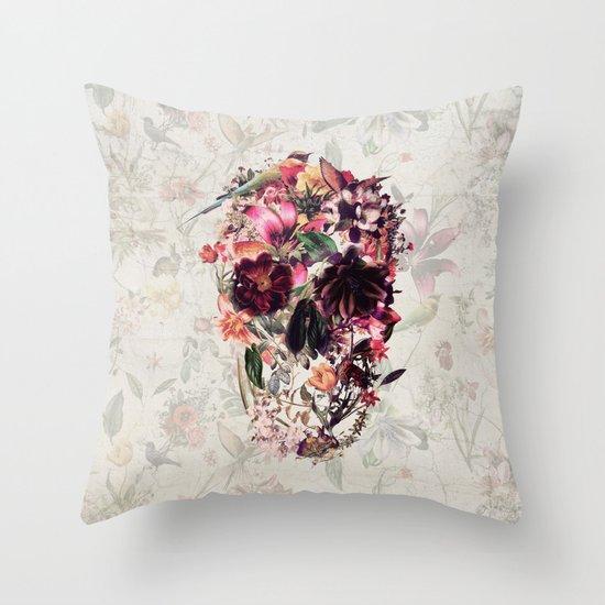 New Skull 2 Throw Pillow