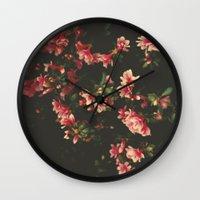 iggy azalea Wall Clocks featuring azalea by Ingrid Beddoes