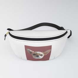 Chihuahua Drawing in Red Fanny Pack