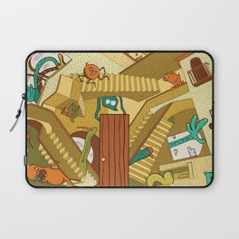 Monsters on Stairs Laptop Sleeve