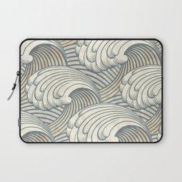 Ocean Waves Pattern Ancient Japan Art Laptop Sleeve