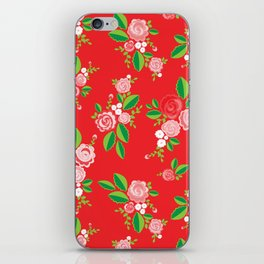 Red Summer Rose iPhone Skin