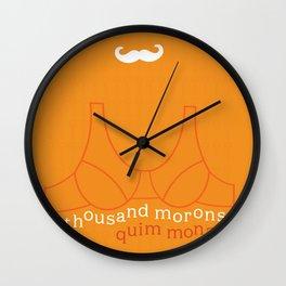 A Thousand Morons Wall Clock