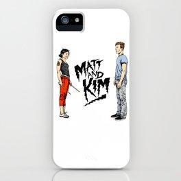 Matt and Kim iPhone Case