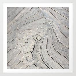 Wooden Swirl Art Print