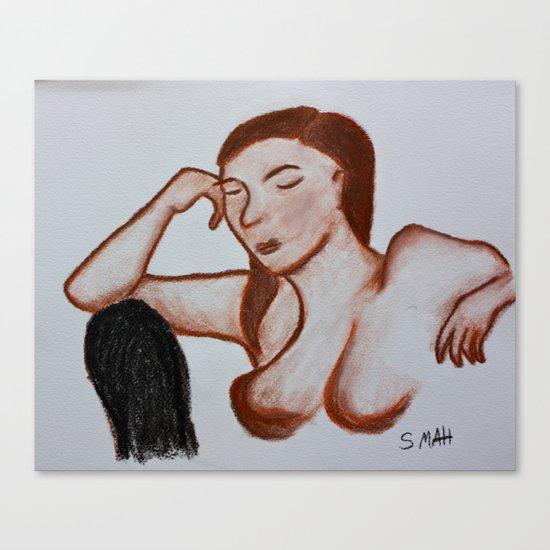 The Black Chair Canvas Print