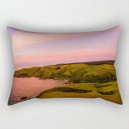 jacks bay new zealand beautiful colors at sunset farmland Rectangular Pillow
