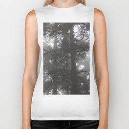 Foggy trees Biker Tank