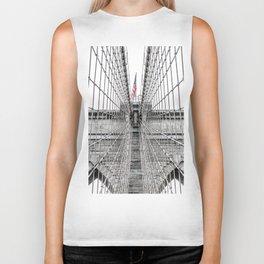 The Brooklyn Bridge and American Flag Biker Tank