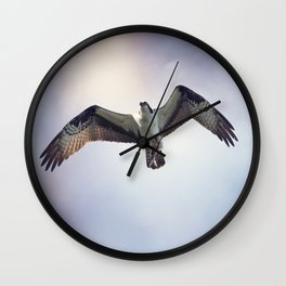 Osprey with Fish Wall Clock