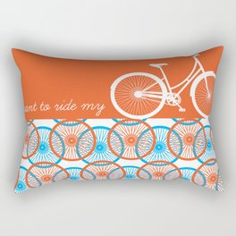 i want to ride my bicycle Rectangular Pillow