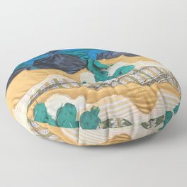 Deserted Stormscape Floor Pillow