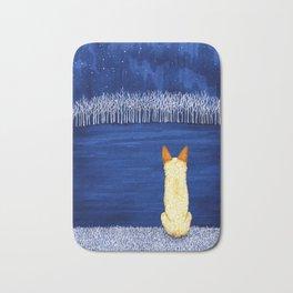 Blue Forest, Starry Sky (Red Heeler) Bath Mat