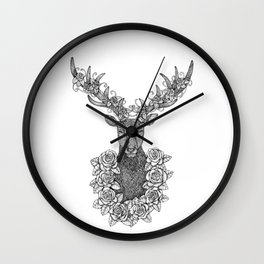 A Deer Portrait by Kent Chua Wall Clock