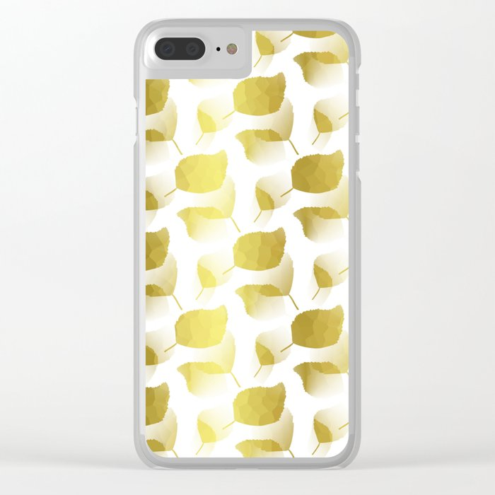 Golden Cascade Clear iPhone Case