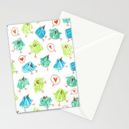 Scribble Birds Stationery Cards