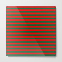 Horizontal Stripes, Christmas and Holiday Fantasy Collection Metal Print