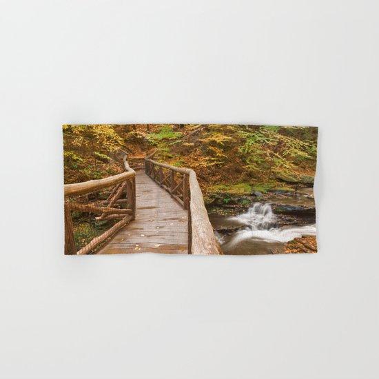 Autumn Boardwalk Bridge Hand & Bath Towel