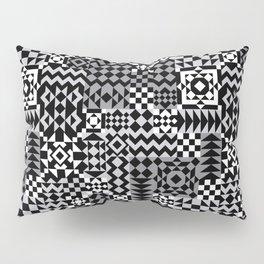 Grey Geo Patchwork Pillow Sham